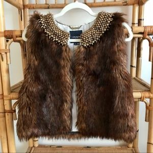 "Gryphon NY ""The Rocker"" Faux Fur Vest - Medium"